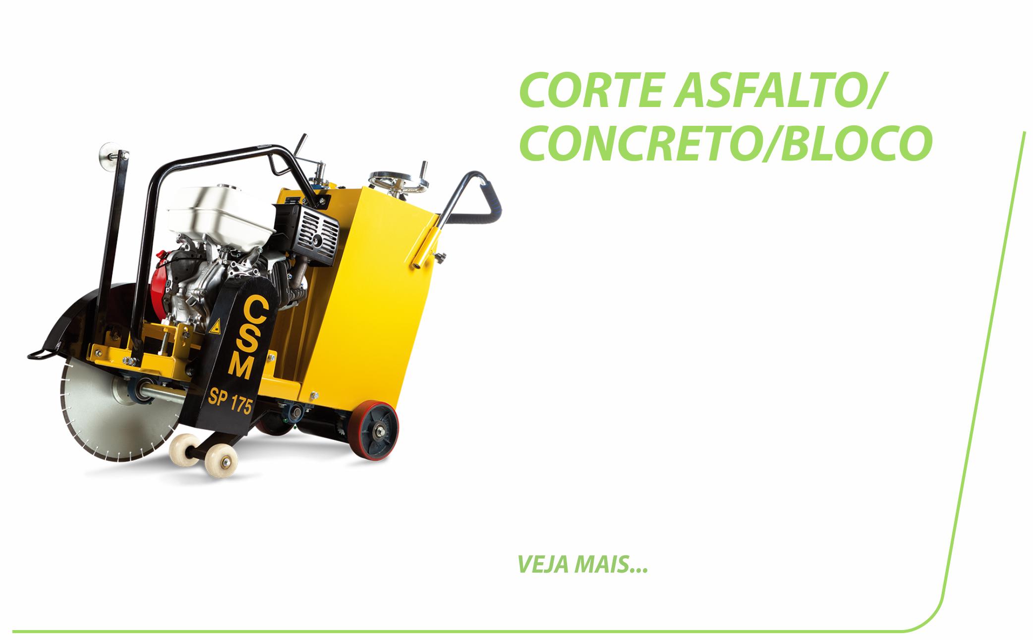 Corte Asfalto/Concreto/Bloco